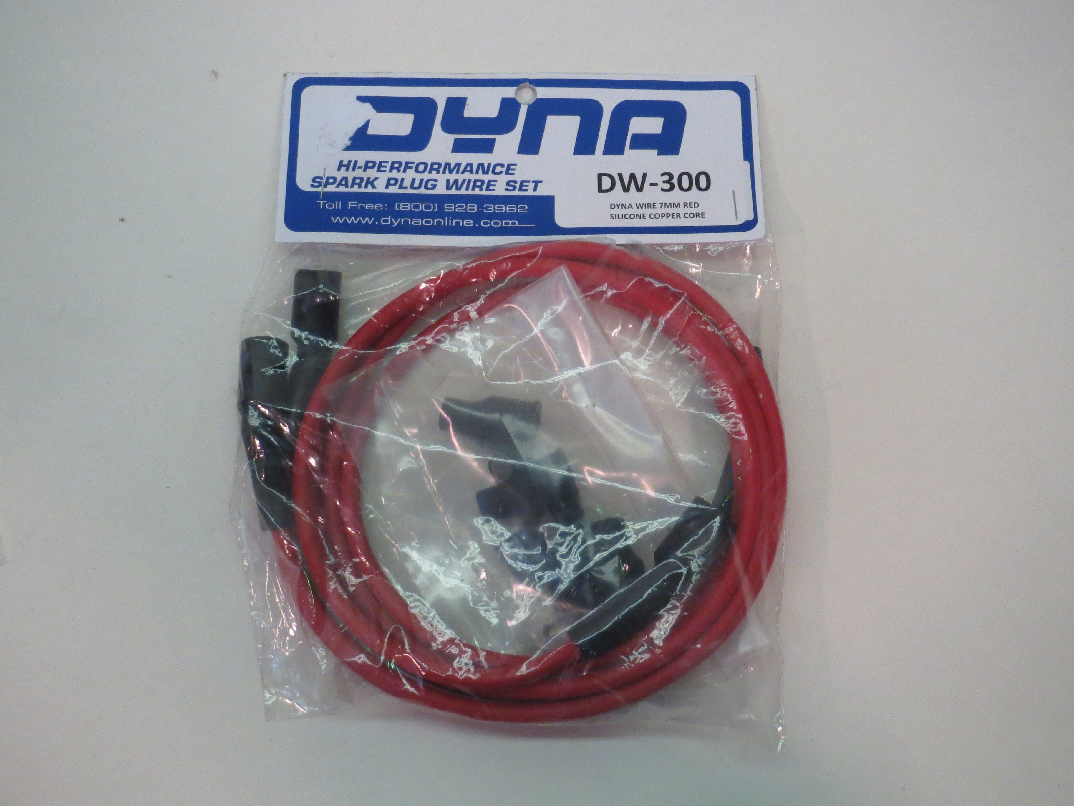 Dynatek Dyna 7mm High Performance Spark Plug Wires DW-300 Red